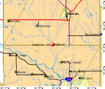 Sedgwick, KS map