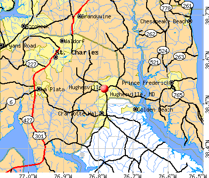 Hughesville, MD map