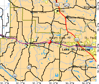 Wright City, MO map