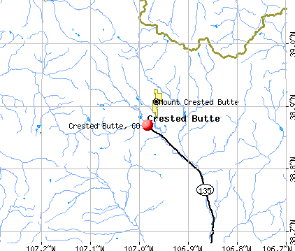 Crested Butte, CO map