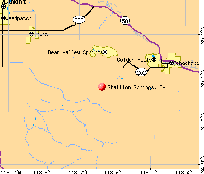Stallion Springs, CA map