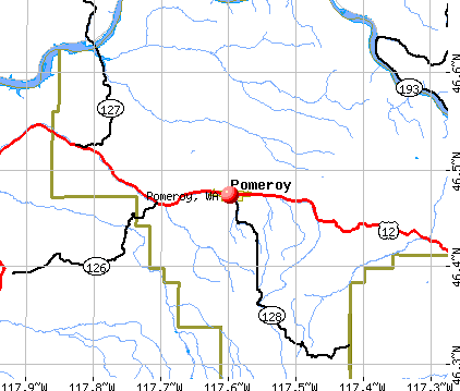 Pomeroy, WA map