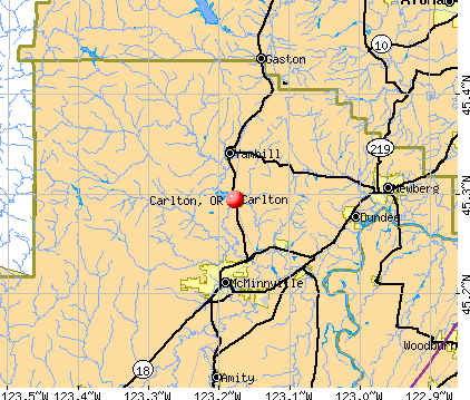Carlton, OR map