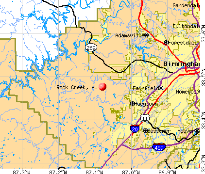 Rock Creek, AL map