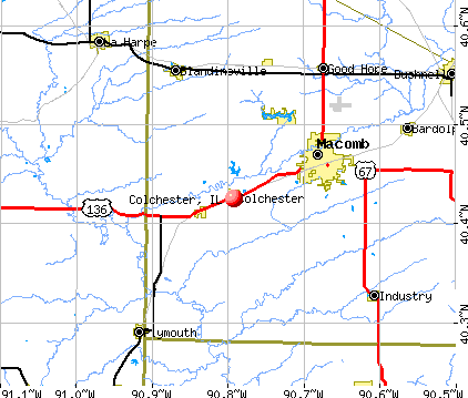 Colchester, IL map