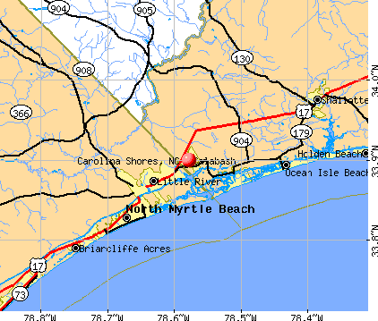 Carolina Shores, NC map