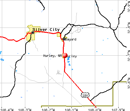 Hurley, NM map