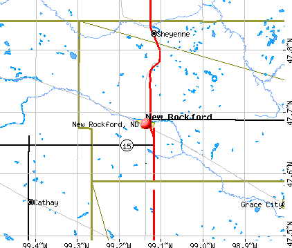 New Rockford, ND map
