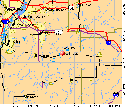Mackinaw, IL map