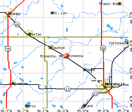 Minneota, MN map