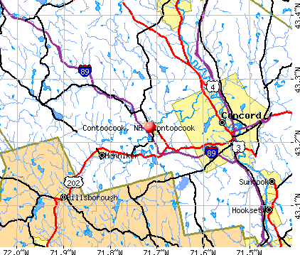 Contoocook, NH map