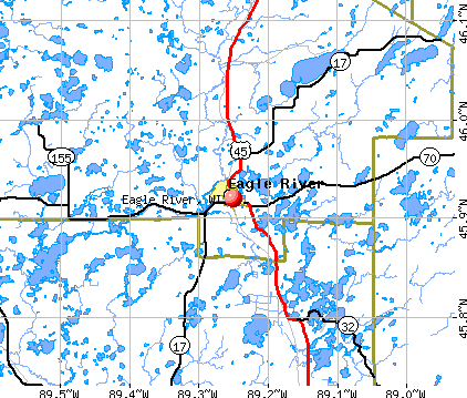 Eagle River, WI map