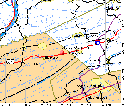 Williamstown, PA map
