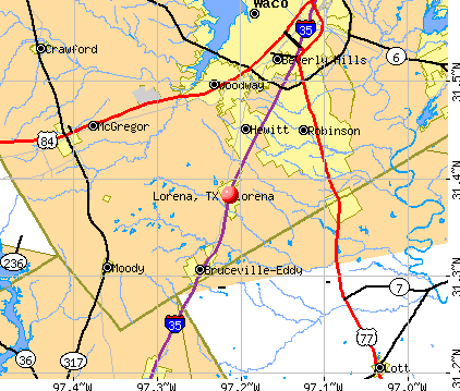 Lorena, TX map
