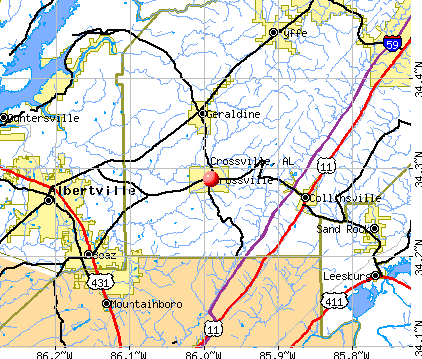 Crossville, AL map
