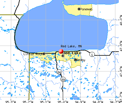 Red Lake, MN map
