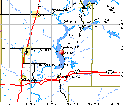 Salina, OK map