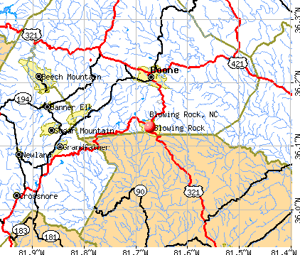 Blowing Rock, NC map