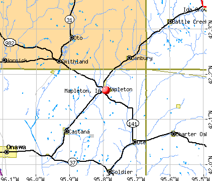 Mapleton, IA map