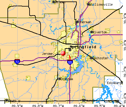 Jerome, IL map