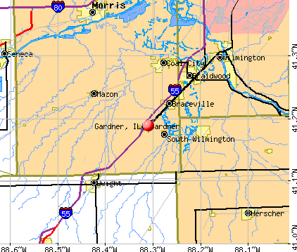 Gardner, IL map