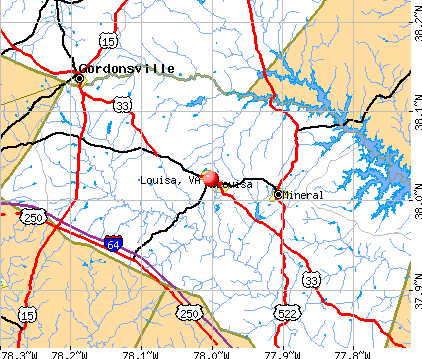 Louisa, VA map