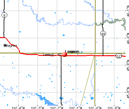 Lemmon, SD map