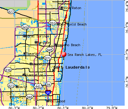 Sea Ranch Lakes, FL map