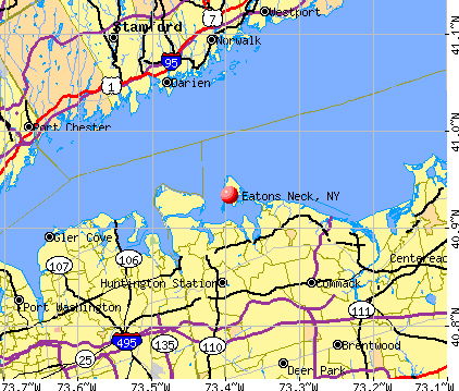 Eatons Neck, NY map