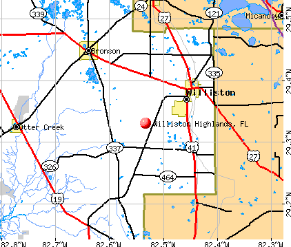 Williston Highlands, FL map