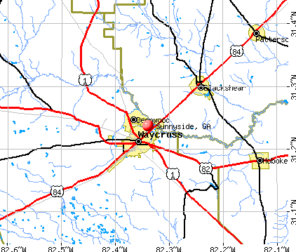 Sunnyside, GA map
