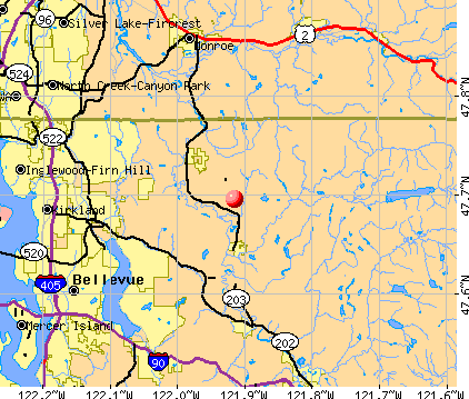 Lake Marcel-Stillwater, WA map