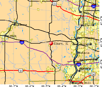 Elburn, IL map