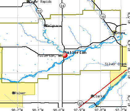 Fullerton, NE map