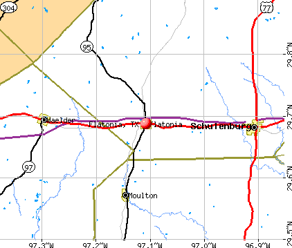 Flatonia, TX map