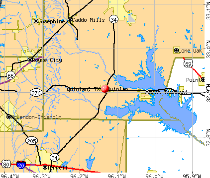 Quinlan, TX map