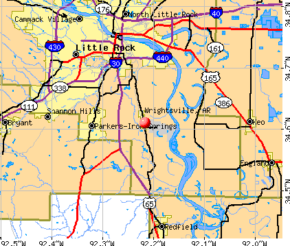 Wrightsville, AR map