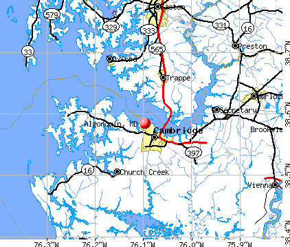 Algonquin, MD map