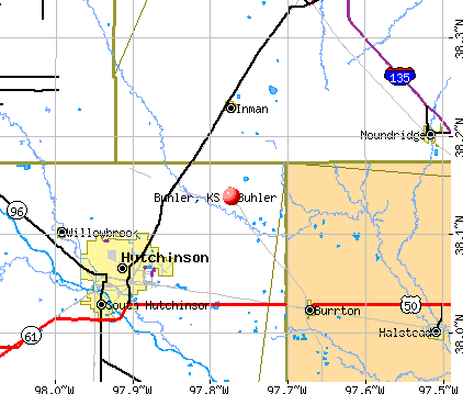 Buhler, KS map