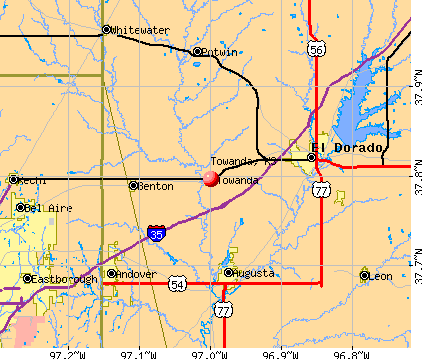 Towanda, KS map