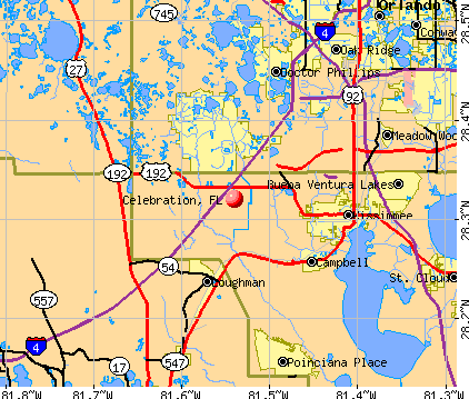 Celebration, FL map