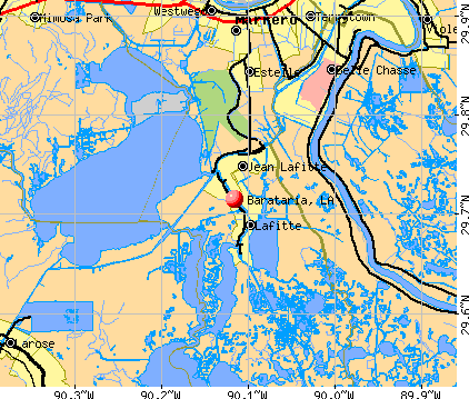 Barataria, LA map