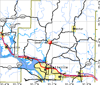 Dover, AR map