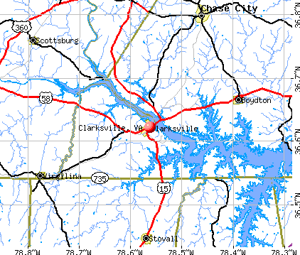 Clarksville, VA map
