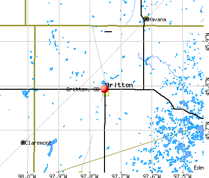Britton, SD map