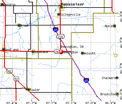 Remington, IN map