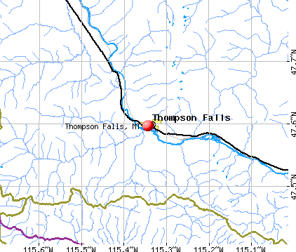 Thompson Falls, MT map