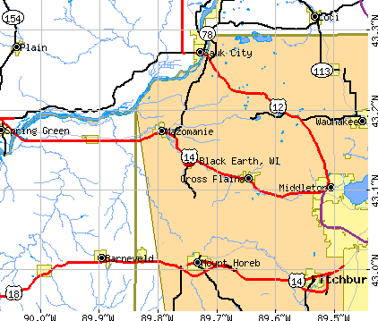 Black Earth, WI map
