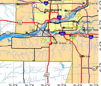 Oak Grove, IL map