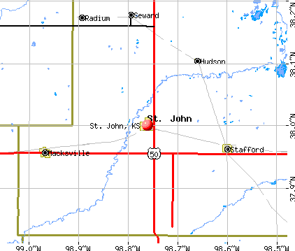 St. John, KS map